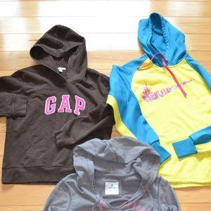 Gap Nike aerie hoodies XS lot 3 sweatshirts